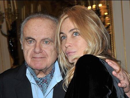 Guy et sa fille Emanuelle Béart