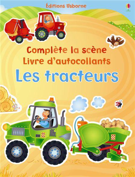 """Livre d'autocollants """"Les tracteurs"""" Usborne"""