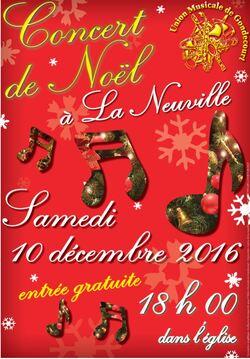 Concert de Noël Samedi 10 décembre Eglise St Blaise La Neuville
