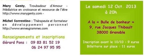 Salon du Zen à la Bulle de Bonheur   11 et 12/10/2013