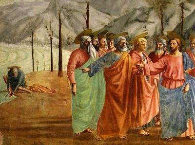 Peinture de Masaccio, église Santa Maria del Carmine