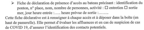 Les activités nautiques et de plaisance à Port Diélette sont autorisées à titre dérogatoire.