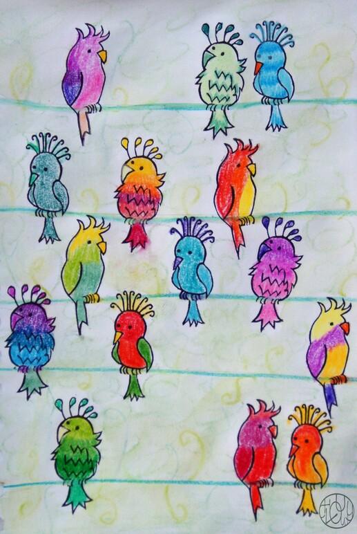 Défi gravure 28/52 - Tampons oiseaux