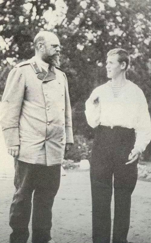 Tsar Alexander lll of Russia with Grand Duke Mikhail Alexandrovich Romanov of Russia.A♥W: