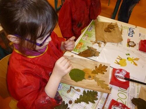 Compositions d'automne dans la classe de Catherine