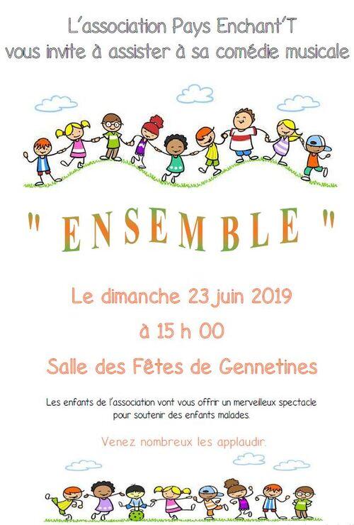 Comédie musicale 2019 : Ensemble - Rendez-vous dimanche 23 juin !