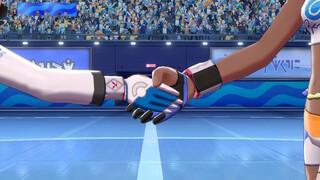 Poignée de main avec la championne !  [Screenshot Pokémon Épée Bouclier]