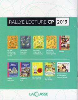 RALLYE LA CLASSE 2013