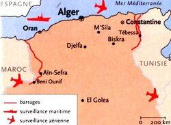 Le contrôle français du térritoire algérien