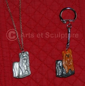 porte clé et bijou Yorkshire faits par Marie - Arts et Sculpture: sculpteurs, artisans d'art