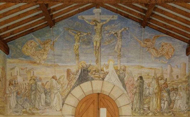 fresque de la Chapelle Notre-Dame-de-la-Paix