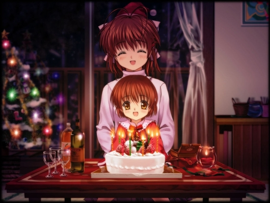 nagisa's birthday with ushio
