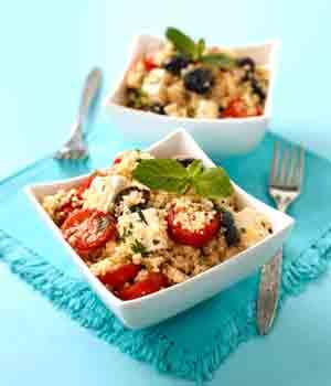 Taboulé aux légumes, tomate et oeufs