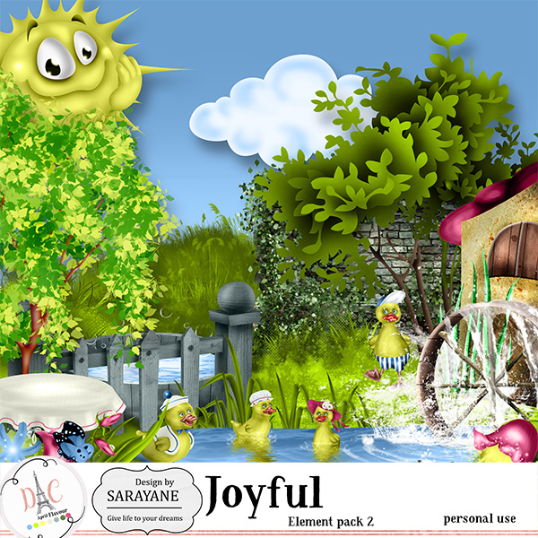 Joyful {PU elements 2} by Sarayane