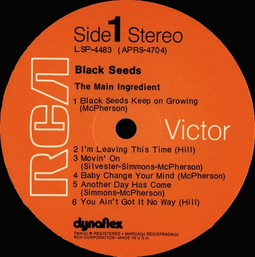 "The Main Ingredient : Album "" Black Seeds "" RCA Victor Records LSP-4483 [ US ]"
