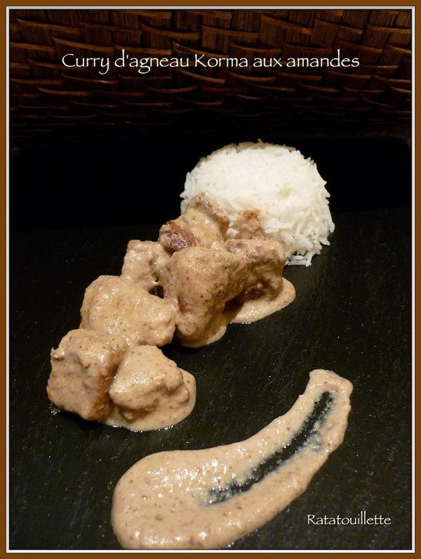 Curry d'agneau Korma aux amandes (mijoteuse)