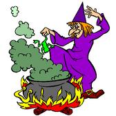 La sorcière et la poiton magique