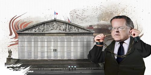 "dessin de JERC et AKAKU du jeudi 13 septembre 2018 caricature Richard Ferrand - Macron : ""Il n'est pas clair mon Ferrand ?"" www.facebook.com/jercdessin @dessingraffjerc"