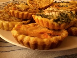 Mini quiches saumon fumé