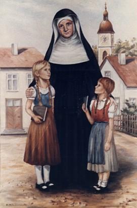 Bienheureuse Caroline Gerhardinger ou Marie-Thérèse de Jésus, fondatrice de la Congrégation des Pauvres Sœurs des Écoles de Notre-Dame († 1879)