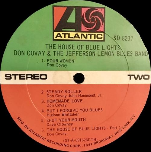 "Don Covay & The Jefferson Lemon Blues Band : Album "" The House Of Blue Lights "" Atlantic Records SD 8237 [US]"