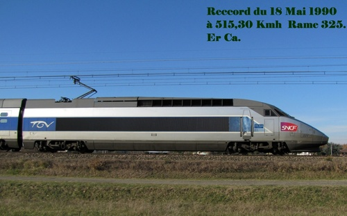 les Reccords TGV plus de 500 Kmh.