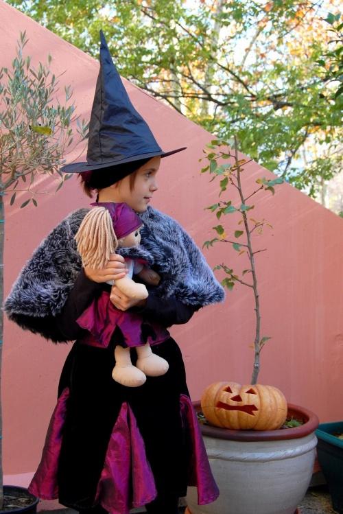 Déguisement, Halloween, enfant, sorcière, poupée, loisirs créatifs.