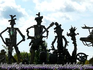 Racines en forme de sculptures