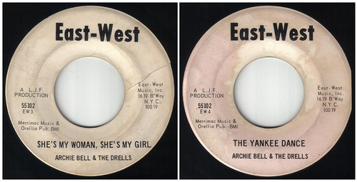 Archie Bell & The Drells - Single East-West records