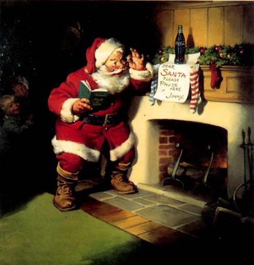 Père Noël livrant des cadeaux