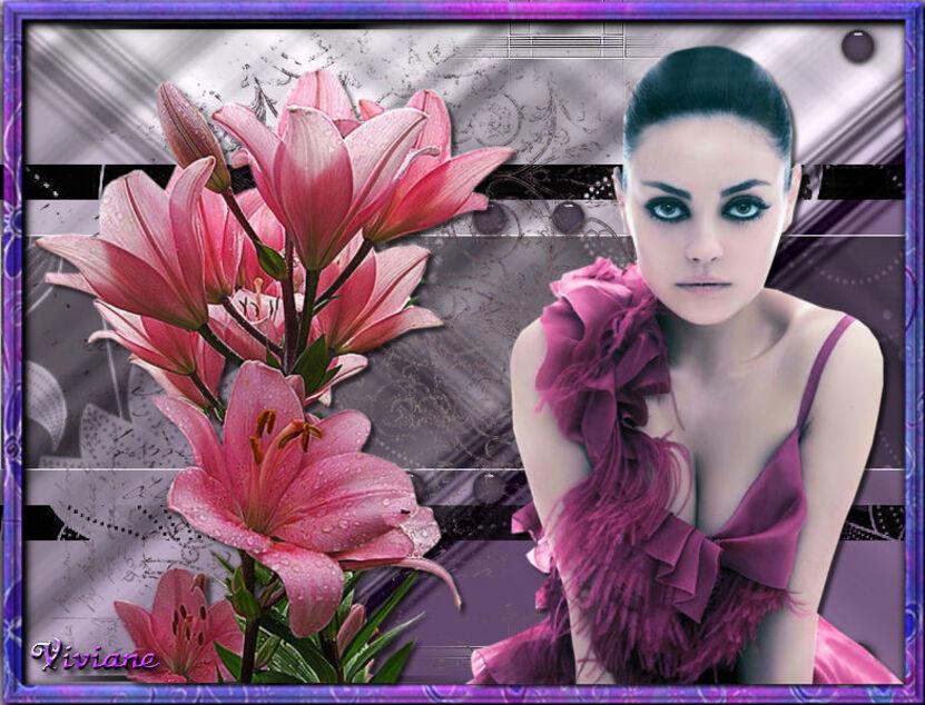 Fleurs entre les fleurs