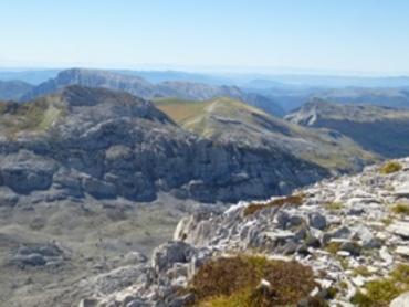 vue des crêtes d'Añelarra