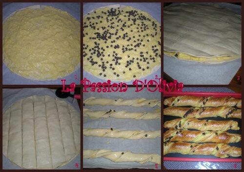 Torsades à la crème pâtissière