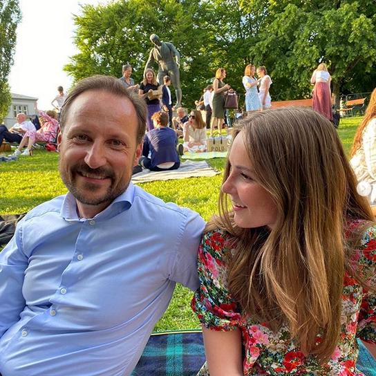 Haakon et sa fille Indrid