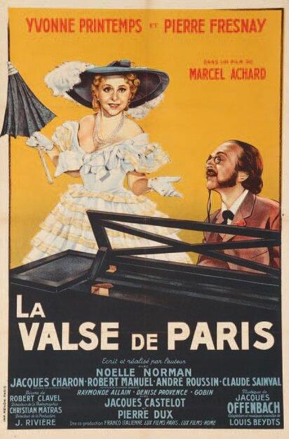LA VALSE DE PARIS - PIERRE FRESNAY BOX OFFICE 1950