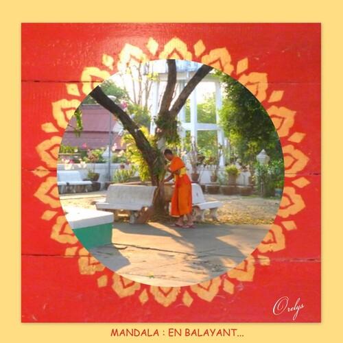 Mandala : en balayant...