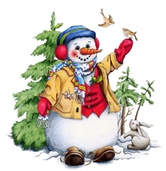 Tubes bonhommes de neige en png