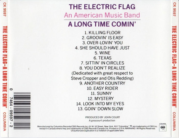 "The Electric Flag : Album "" A Long Time Comin' "" Columbia Records CS 9597 [ US ]"