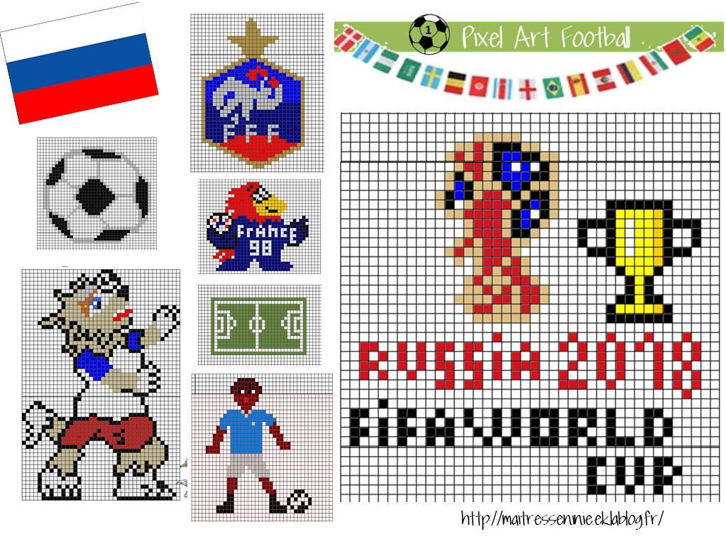 Pixel Art Thème Football Maîtresse Ninie