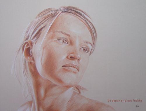 Portrait aux trois crayons