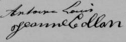 signatures de Louis Antoine et de Jeanne Collon-Antoine