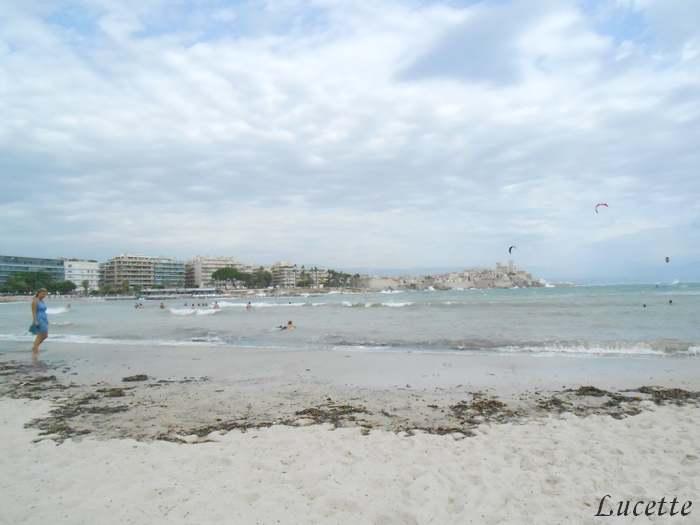 Quelques vues des plages d'Antibes