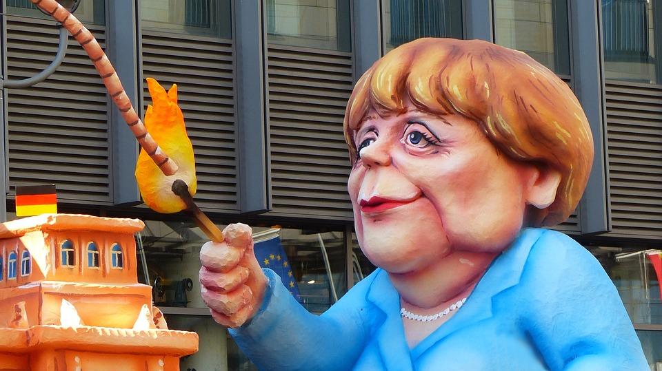 Angela Merkel, Caricature, Montre Moi, Démonstration