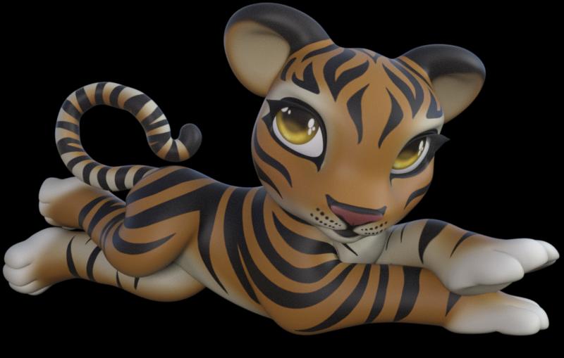 Tube de tigre délicat (render-image)