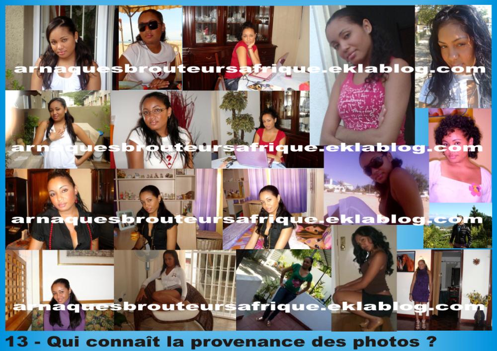 Qui connaît 13 - photos volées par des brouteurs ivoiriens pour arnaquer