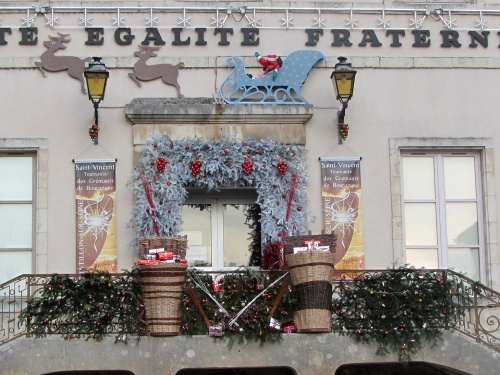 Châtillon sur Seine décorée pour les Fêtes 2012