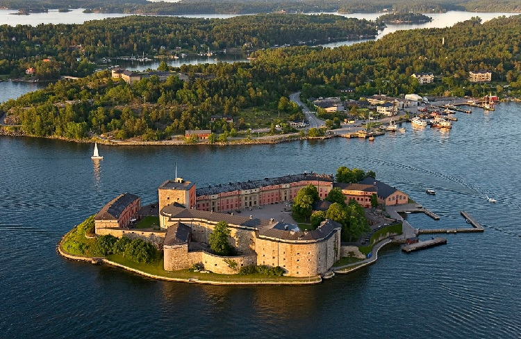 Suède : Le château de Vaxholm