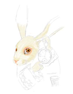 Le lapin du Pays des Merveilles