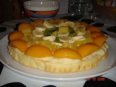Recette de cuisine : Gâteau aux fruits multicolores