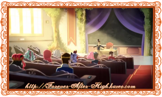 ever after high salle de classe